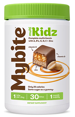 Multi Kids Complete Multivitamin with A, C, D, E + Zinc Milk Chocolatey - 30 Bites by MyBite Vitamins