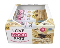 Keto Friendly Plant-Based Snack Bar Box Chocolate Chip Cookie Dough - 12 Bars by Love Good Fats