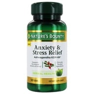 Anxiety & Stress Relief Ashwagandha KSM-66 - 50 Tablets by Nature's Bounty (自然之宝)