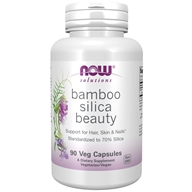 Bamboo Silica Beauty头发,皮肤和指甲支持-90蔬菜胶囊, NOW Foods