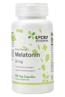 Melatonin额外力量 10 mg。100 LuckyVitamin胶囊, LuckyVitamin