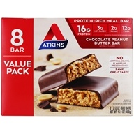Protein-Rich Meal Bars Box Value Pack Chocolate Peanut Butter - 8 Bars by Atkins