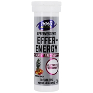 NOW Sports Effer-Hydrate Effervescent Electrolyte Supplement Tropical Punch - 10 Tablets by NOW Foods
