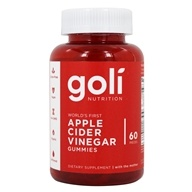 Apple Cider Vinegar Gummies with the Mother - 60 Gummies by Goli Nutrition