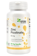 锌Picolinate 50 mg。120 LuckyVitamin胶囊, LuckyVitamin