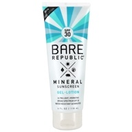 Mineral Body Sunscreen Gel-Lotion Natural Fragrance 30 SPF - 4 fl. oz. by Bare Republic
