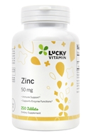 Zinc (Value Size) 50 mg. - 250 Tablets by LuckyVitamin