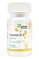 Vitamin D3 10000 IU - 120 Softgels by LuckyVitamin