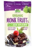 NOW Real Food Organic Monk Fruit 1 to 1 Sugar Replacement Powder - 1 lb. by NOW Foods