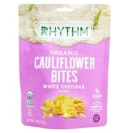 Organic Cauliflower Bites White Cheddar - 1.4 oz. by Rhythm Superfoods