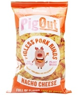 PigOut Pigless Pork Rinds Nacho Cheese - 3.5 oz. by Outstanding Foods
