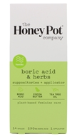 Boric Acid & Herbs Suppositories + Applicator - 14 Count by The Honey Pot Company