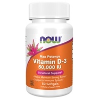 Vitamin D3 Max Potency Structural Support 50000 IU-50 NOW Foods按NOW Foods