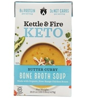 Keto Bone Broth Soup Butter Curry - 16.9 oz. by Kettle & Fire
