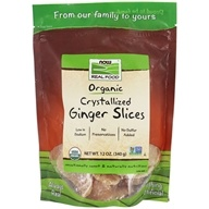 NOW Real Food Organic Crystallized Ginger Slices - 12 oz. by NOW Foods