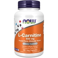 L肉毒碱 500 mg。180 Capsules by NOW Foods
