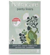 Cotton Natural Panty Liners Curved - 30 Liner(s) by Natracare (奈卡)