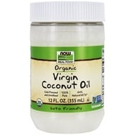 NOW Real Food Organic Virgin Coconut Oil Cold Pressed & Unrefined - 12 fl. oz. by NOW Foods