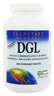 DGL Deglycyrrhizinated欧亚甘草-200 Chewable Tablets Formerly Planetary Formulas by Planetary Herbals