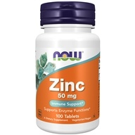 Zinc 50 mg. - 100 Tablets by NOW Foods