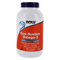 Eco-Sustain Omega-3 心血管支持-180 Softgels by NOW Foods