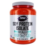 NOW Foods - NOW Sports Soy Protein Isolate Powder Unflavored - 2 lbs.
