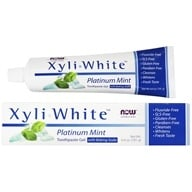 XyliWhite Toothpaste Gel with Baking Soda Platinum Mint - 6.4 oz. by NOW Foods
