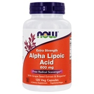 NOW Foods - Alpha Lipoic Acid Extra Strenght 600 mg. - 120 Vegetable Capsule(s)