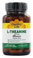 L-Theanine Suntheanine氨基酸-60 Vegetarian Capsules by Country Life (乡村生活)