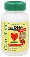 Pure DHA Chewable莓果 250 mg。90 Softgels by Child Life Essentials (童年时光)