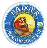 Aromatic Chest Rub Eucalyptus & Mint - 2 oz. by Badger (贝吉獾)