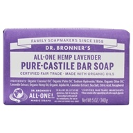 Pure -Castile Bar Soap Hemp Lavender-5盎司。由Dr. Bronners (布朗博士)