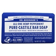 Pure -Castile Bar Soap Hemp Peppermint-5盎司。由Dr. Bronners (布朗博士)