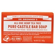Pure -Castile Bar Soap Hemp Tea Tree-5盎司。由Dr. Bronners (布朗博士)