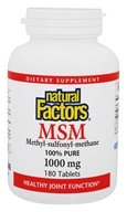 100% Pure MSM (甲基磺酰基甲烷) 1000 mg。180 Tablets by Natural Factors (自然因子)
