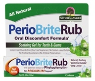 PerioRub Soothing Gel For Natural Relief From Tooth & Gum Discomfort Cool Mint - 0.5 oz. by Nature's Answer (自然之源)