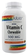 Solaray - Vitamin C Chewable Buffered Natural Orange Flavor 500 mg. - 100 Chewable Wafers