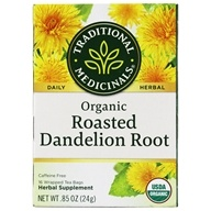 Organic Roasted Dandelion Root Herbal Tea - 16 Tea Bags by Traditional Medicinals