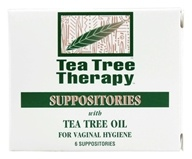 Suppositories with Tea Tree Oil - 6 Pack(s) by Tea Tree Therapy