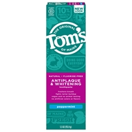 Natural Toothpaste Antiplaque & Whitening Fluoride-Free Peppermint - 5.5 oz. by Tom's of Maine