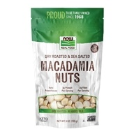Real Food Dry Roasted Macadamia Nuts with Sea Salt Dry Roasted & Salted - 9 oz. by NOW Foods