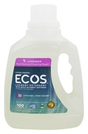 Earth Friendly (地球宝贝) - ECOS Hypoallergenic Laundry Detergent with Built-In Fabric Softeners 100 Loads Lavender - 100 fl. oz.