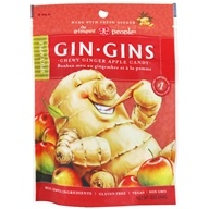 Gin Gins Chewy Ginger Candy Spicy Apple Flavor - 3 oz. by Ginger People