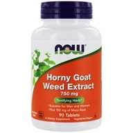 Horny Goat Weed Extract 750 mg. - 90 Tablets by NOW Foods
