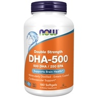 Double Strength 500 DHA / 250 EPA for Brain Health - 180 Softgels by NOW Foods