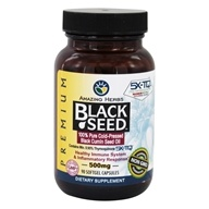 Black Seed Pure Cold-Pressed Oil 500 mg. - 90 Softgels by Amazing Herbs